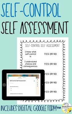 Collect data in your school counseling groups and individual sessions by using this self-control self-assessment. Self-assessments are a great way to determine student growth! Forms available in both hardcopy and digital version. Elementary School Counselor, School Counseling, Elementary Schools, Positive Self Esteem, Bullying Prevention, Special Education Classroom, Social Emotional Learning, Self Assessment, Self Control