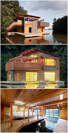 Muskoka Lakes Boathouse in Canada
