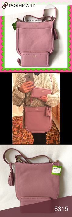"""Authentic Kate Spade Leather Handbag & Wallet AUTHENTIC ♠️️ Beautiful rumraisin color gorgeous leather handbag and zippy wallet from Kate Spade Bag approximate measurements: 11 1/4"""" x 10 3/4"""" x 3 1/2"""" Crossbody & shoulder bag w/ adjustable long strap. 3 pockets inside & 1 exterior front compartment. Zipper top closure. Wallet: almost 8"""" x 4"""" w/ lots of compartments for your cash & cards. Both new w/ tags. NO TRADE ❌ Price is firm. kate spade Bags"""