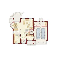 Rzut DA Itamon 2 CE Floor Plans, House, Home, Homes, Floor Plan Drawing, Houses, House Floor Plans