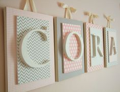 Nursery letters, Pink and Gray Nursery Letters, Pink and Gray Nursery Decor, Girls Nursery Decor Ideas,Wooden Wall Letters for Girls Nursery Nursery Letters Girl, Wooden Letters For Nursery, Nursery Name, Nursery Signs, Wood Letters, Nursery Wall Art, Girl Nursery, Baby Letters, Nursery Ideas