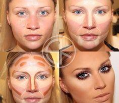 highlights contour make up before and after - Google zoeken