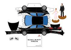 papercraft | Lancer Galant Paper Craft Auto