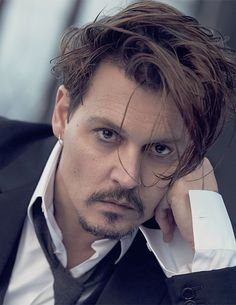 Johnny Depp, slightly ruffled and gorgeous.