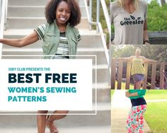 Check out list of favorite free women's sewing patterns to create your wardrobe essentials. All tried and true and great for all sewing levels.
