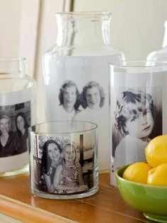 Original DIY photo gifts: 4 simple techniques with b .-Originelle DIY Fotogeschenke: 4 einfache Techniken mit Anleitung photo on glass photo gifts - Creative Mother's Day Gifts, Diy Gifts For Mom, Diy Mothers Day Gifts, Homemade Gifts, Mothers Day Presents, Happy Mothers, Glass Containers, Glass Jars, Clear Glass