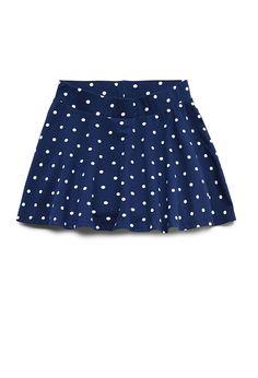 Polka Dot Skater Skirt (Kids)   FOREVER21 girls - 2000065110
