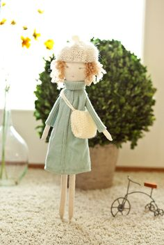 Rag doll/handmade/eco-friendly/soft doll/cloth doll