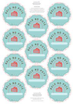 Resultado de imagem para Etiquetas Personalizadas bolo no pote para Imprimir Gratis Logo Doce, Bakery Packaging, Sweet Cakes, Card Tags, Paper Crafts, Activities, Diy, Google Drive, Food