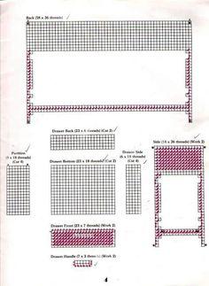Album Archive - plastic canvas furniture for barbie Plastic Canvas Tissue Boxes, Plastic Canvas Crafts, Plastic Canvas Patterns, Barbie Furniture, Dollhouse Furniture, Draw Handles, Interior Design Classes, Barbie Kitchen, Barbie Doll House
