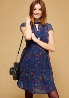 ModCloth - ModCloth Oh Say Can Museum A-Line Dress in Detective in 3X - AdoreWe.com