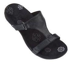 Orthaheel Molly Orthotic Snake Embossed Adj. Slide Sandals