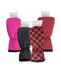 Quilted Ice Scraper Glove: Keep your fingers warm while brushing the snow off your car. Simply insert your hand in the oversized mitten and grab ahold of the handle inside to dust off the build-up.