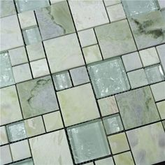 kitchen backsplash glass and stone tiles - Google Search