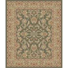 @Overstock - A traditional Perisan rug is a great addition to your home decor Rug is machine made of 100-percent heat-set polypropylene Rug features colors of sage, ivory, rose, red and blackhttp://www.overstock.com/Home-Garden/Traditional-Green-Ushak-Rug-27-x-41/3266019/product.html?CID=214117 $18.49