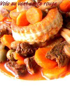 Un délicieux plat que je désire partager avec vous , vraiment savoureux et tres facile à préparer, je vous recommande de le tester, c'est un excelent plat. Ingrédients - viande de boeuf ou mouton coupé en petit morceaux - 6 petits vols au vent - 1 oignon...