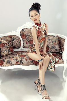 Asian beautiful-In the Mood for Love Oriental Dress, Oriental Fashion, Asian Fashion, Geisha, Chinese Gown, Mandarin Dress, Cheongsam Dress, Beautiful Asian Women, Ao Dai