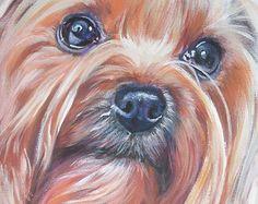 Yorkshire Terrier lona de impresión de LA Shepard perro   Etsy