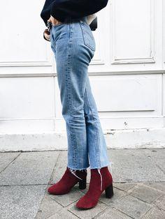 Adenorah, blog mode, Paris - Saint laurent bag - Asos boots - Vintage Levis - Tommy Hilfiger sweater