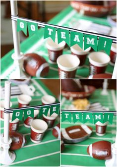 How to make a Football Goal Post DIY Party Banner! So fun for tailgates, viewing parties,football birthday parties, etc! Get the details and how-to!