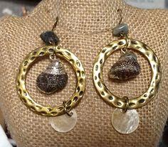 http://www.ebay.com/itm/261823094250?ssPageName=STRK:MESELX:IT&_trksid=p3984.m1555.l2649  Urban Anthropologie Earrings Dangle Pierced Shell Brass Abalone Stone