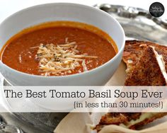 The Best Tomato Basil Soup Ever | With healing bone broth, heavy cream, and fresh basil, this is THE best tomato basil soup ever! And you can make this simple soup in less than 30 minutes. | TodayInDietzville.com