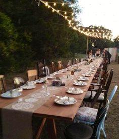 Table Setting Vintage Wedding