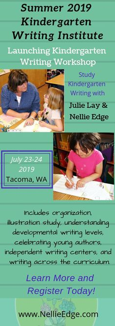 Grow Your Kindergarten Writers! Summer Writing Institute with Nellie Edge - best_drawing_pintous Kindergarten Writing, Kindergarten Teachers, Student Teaching, Teaching Tips, Differentiated Kindergarten, Abc Phonics, Early Literacy, Literacy Centers, Writing Workshop