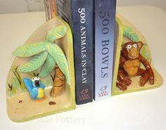 Ceramic bookends, plus lots of ideas for handbuilt projects