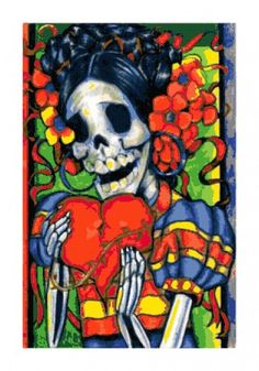 Dia De Los Muertos Day of the Dead Skeleton Woman Cross-Stitch. Just bought this pattern ! Finished product for sale by the end of 2013 @earliest.lol