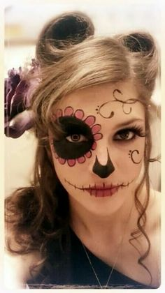 Sugar skull look genious Just going to lighten whole face maybe freestyle some more round cheeks
