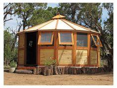 Turtleback Yurt Home. i want a yurt Cabana, Yurt Home, Yurt Living, Aspen Wood, Round House, Wooden House, Little Houses, Tiny Houses, Gazebo