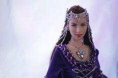 Купить Кукла Эльфийка - тёмно-фиолетовый, эльфийка, фентези, кукла эльфийка, эльфы, Арвен