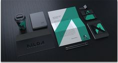 A logo design and brand identity for a construction company NILDA, based in l'Aquila, Italiy.