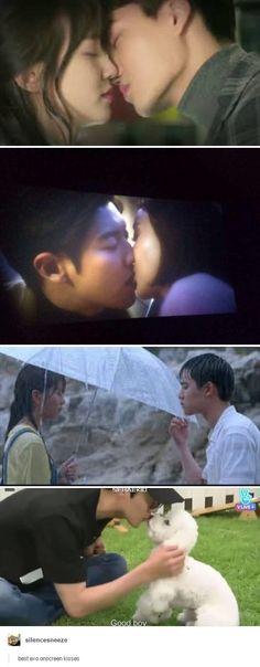 exo's on screen kisses