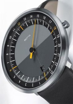 The UNO 24 Black by Botta and Unique Watch designs available at the Web's Coolest Modern Watch store Watches.com