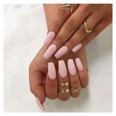 30 Manicure Ideas That Will Make You Mad For Matte ❤ liked on Polyvore featuring beauty products, nail care and nails