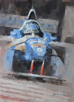 Champion - Damon Hill Part of a triptych of three British F1 Champions