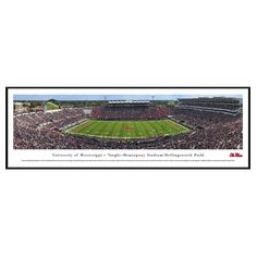 Framed Wall Poster Print NCAA .88 X 40.25 X 13.75 Mississippi Rebels, Ole Miss Rebels
