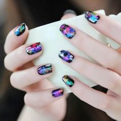 """Check out our site for more relevant information on """"acrylic nail art designs rhinestones"""". It is actually an excellent location to learn more. Foil Nail Art, Foil Nails, Acrylic Nail Art, Acrylic Nail Designs, Flower Nail Designs, Best Nail Art Designs, Beautiful Nail Designs, Finger, Super Nails"""