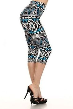 Capri leggings- Tribal print high waist active yoga pants. One size.  - EXCLUSIVE DEAL! BUY NOW ONLY $8.8 ---> http://tipsalud.com