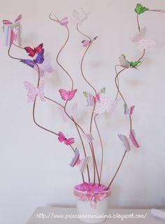 Princesa Vereníssima: Pap do painel de tecido, molde de letras em feltro e das borboletas.