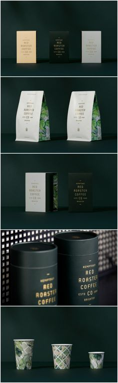 Identity, Interior and Packaging Design of a Cafe Brand that's a British Institution Design Agency: Pop & Pac Studio Project Name: Red Roaster Coffee Location: Australia Category: World Brand & Packaging Design Society Coffee Packaging, Brand Packaging, Packaging Design, Branding Design, Coffee Shop Branding, Cafe Branding, Packaging Solutions, Label Design, Graphic Design