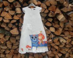 Toddler linen girl dress ON ORDER ONLY light by InGAartWork