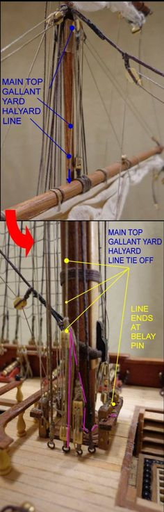 Main Top Gallant Yard Halyards 02