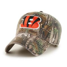 Adjustable Realtree Cincinnati Bengals Camo Clean Up Hat