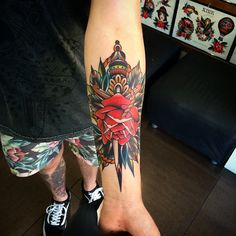 Rose Classic American Tattoo