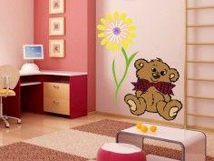 Wandsticker Teddybär - erhältlich auf www.klebespass.de