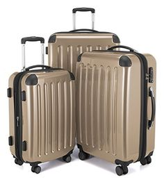 HAUPTSTADTKOFFER Luggages Sets Glossy Suitcase Sets Hardside Spinner Trolley Expandable 20 24  28 TSA Champagne -- Want to know more, click on the image. Travel Tote, Travel Luggage, Luggage Deals, Disney Luggage, Large Luggage, Best Luggage, Hand Luggage, Carry On Luggage, Travel Packing