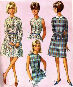 Vintage Sewing Pattern 1960s Simplicity 6330 Shirt by paneenjerez, $10.00